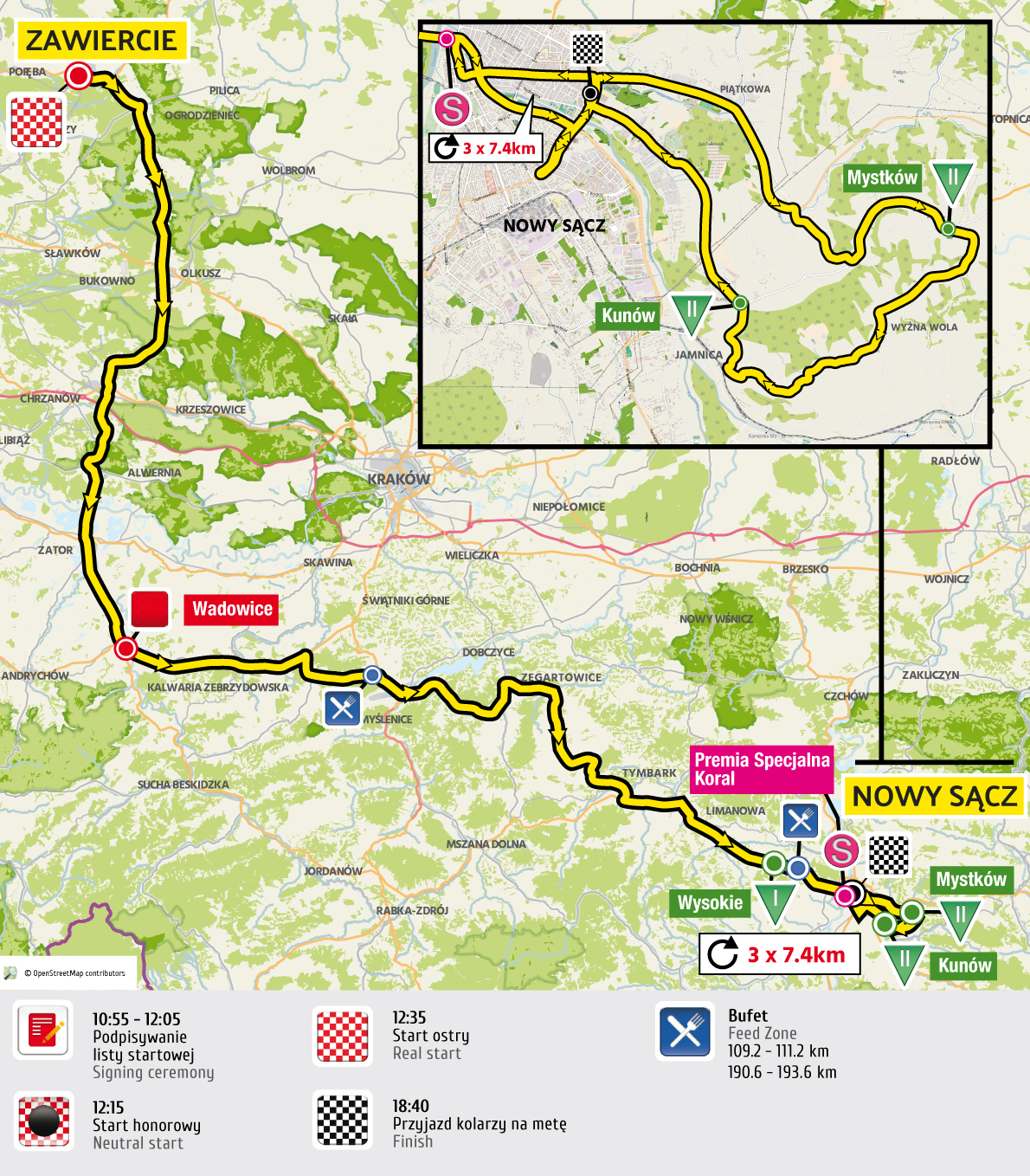 etap 3 mapa Tour de Pologne 2016 UCI World Tour