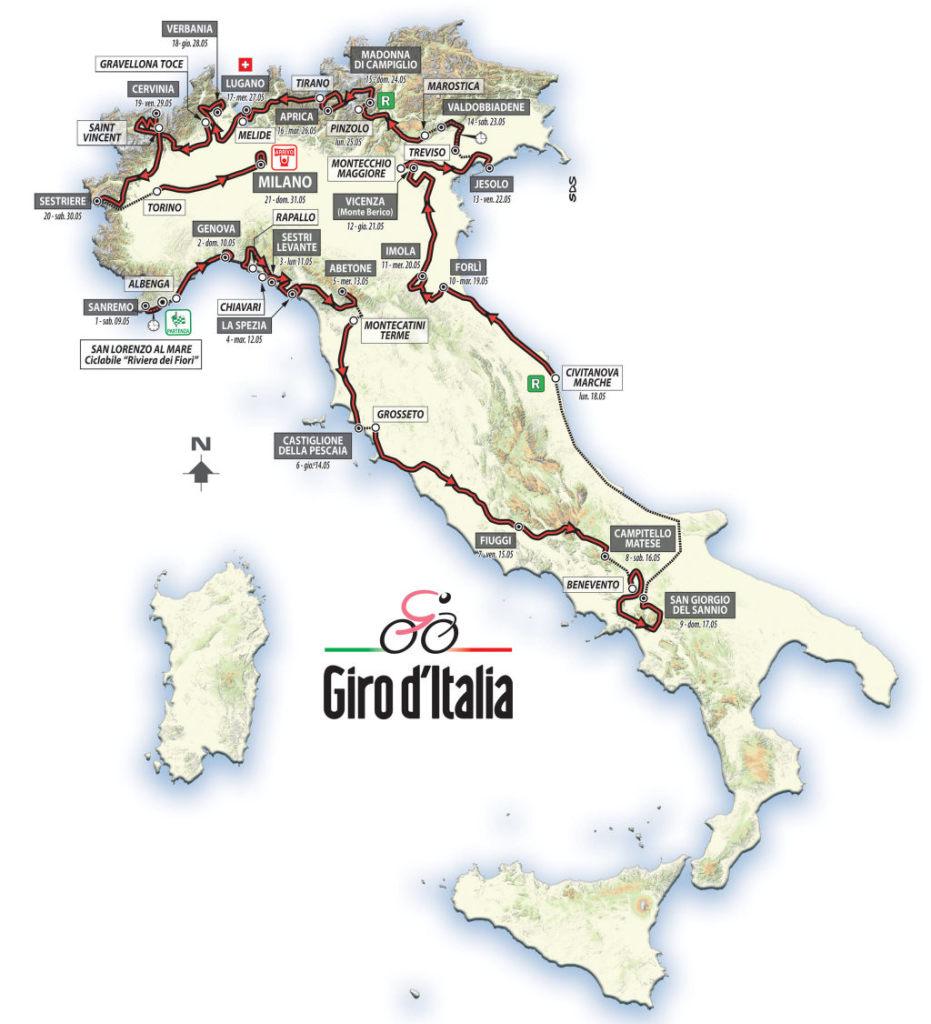 trasa Giro