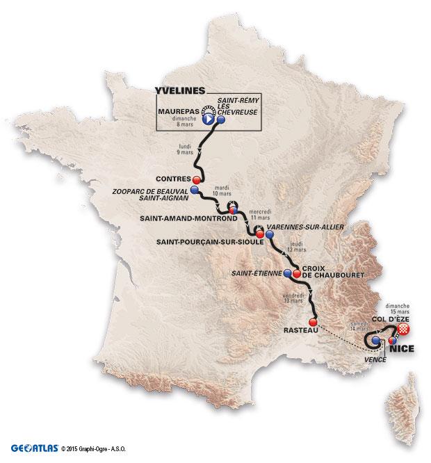 Trasa Paryż Nicea 2015