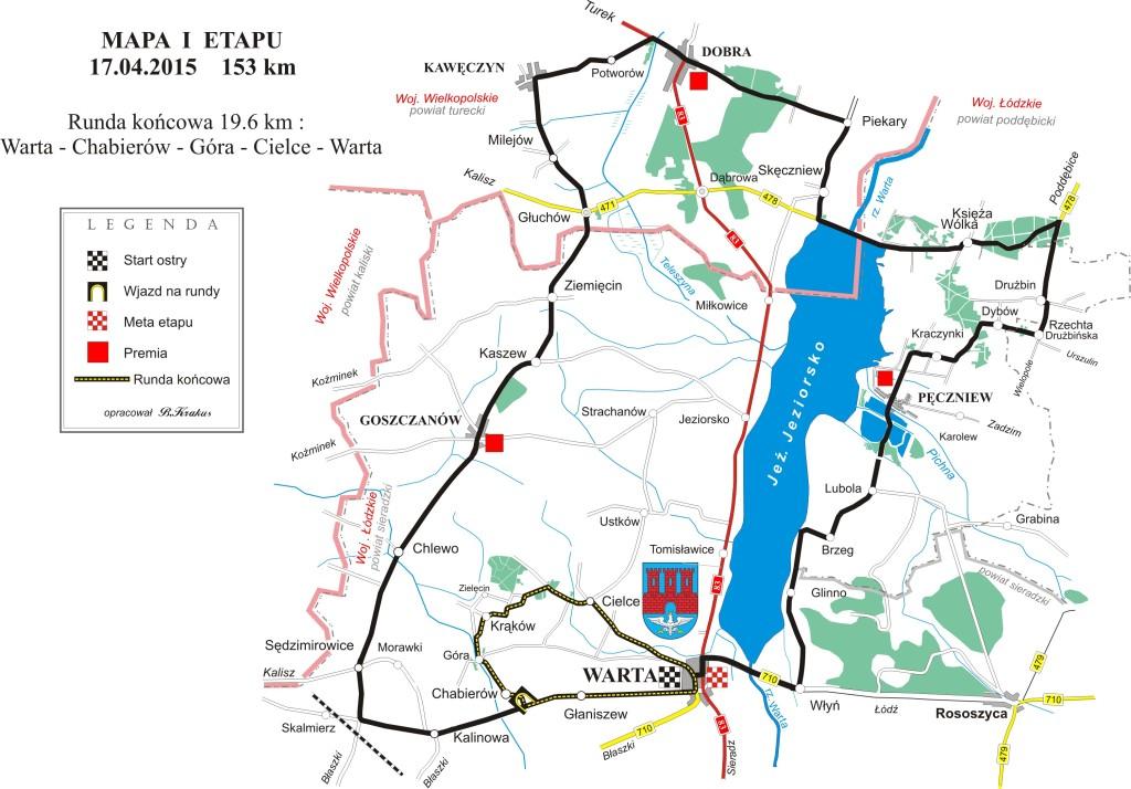 Hellena Tour  mapa 1-etap