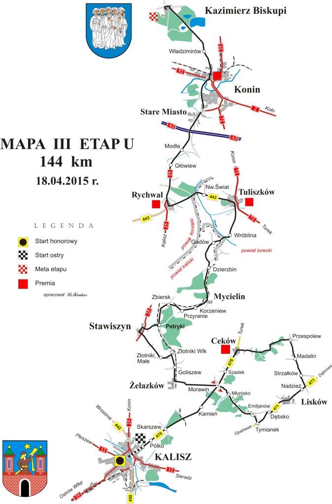Hellena Tour  mapa 3-etap