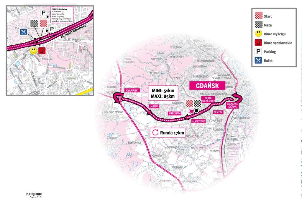 Mapa Tauron Lang Team Race gdańsk