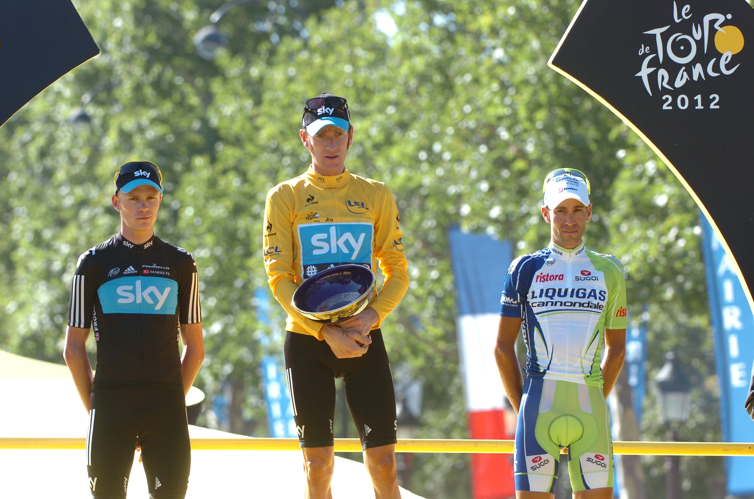 2012, Tour de France, tappa 20 Rambouillet - Paris, Team Sky 2012, Liquigas 2012, Wiggins Bradley, Froome Christopher, Nibali Vincenzo, Paris