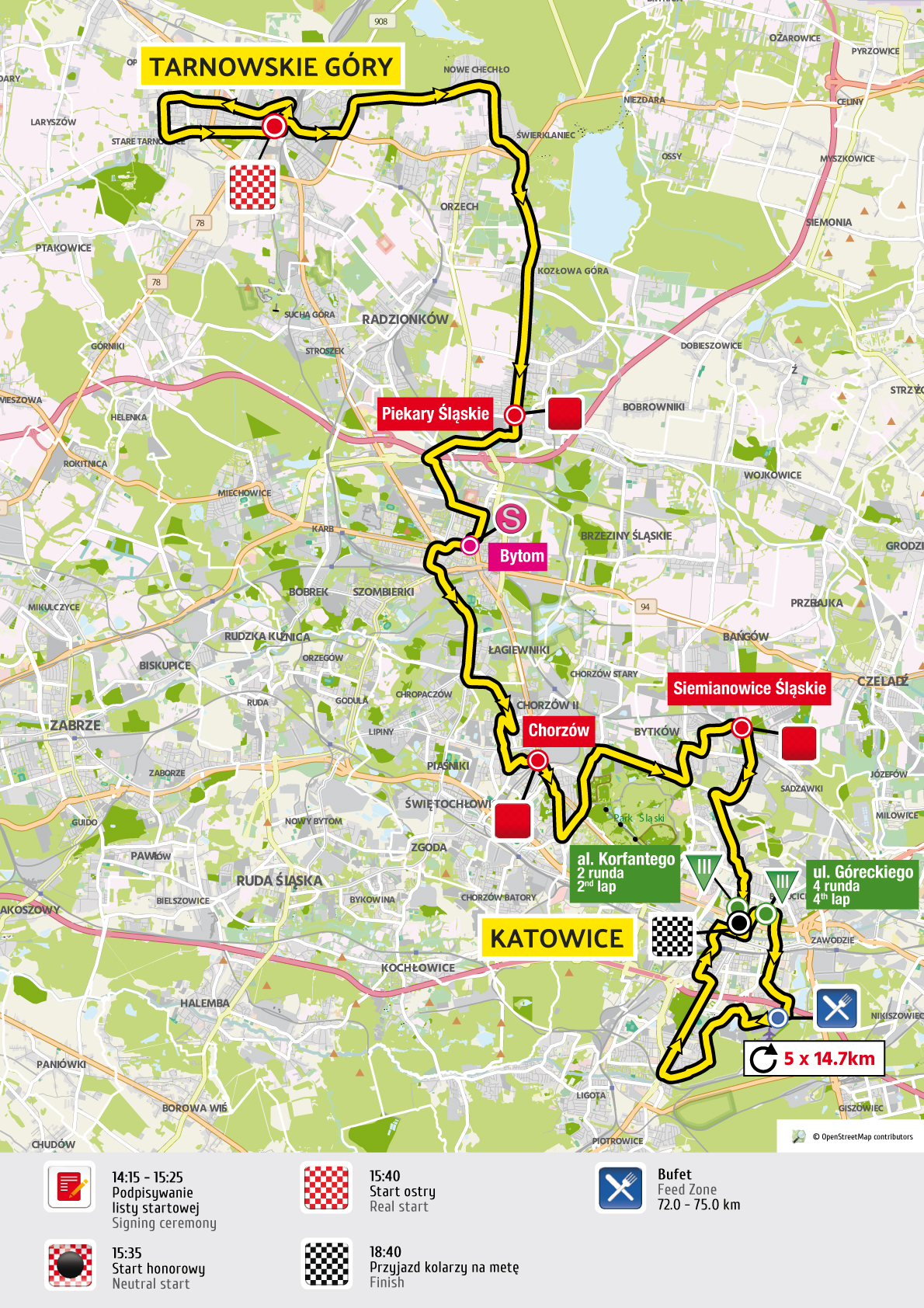 etap 2 mapa Tour de Pologne 2016 UCI World Tour