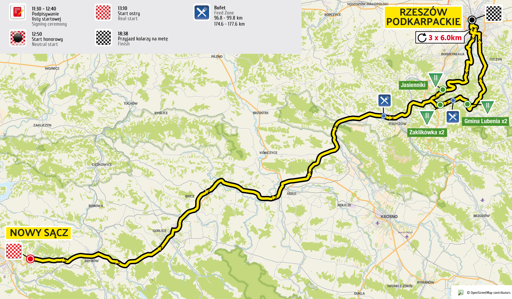 etap 4 mapa Tour de Pologne 2016 UCI World Tour