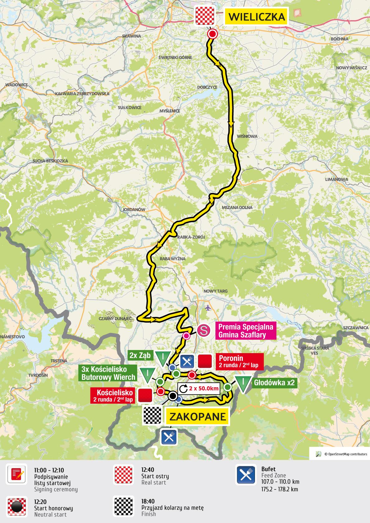 etap 5 mapa Tour de Pologne 2016 UCI World Tour