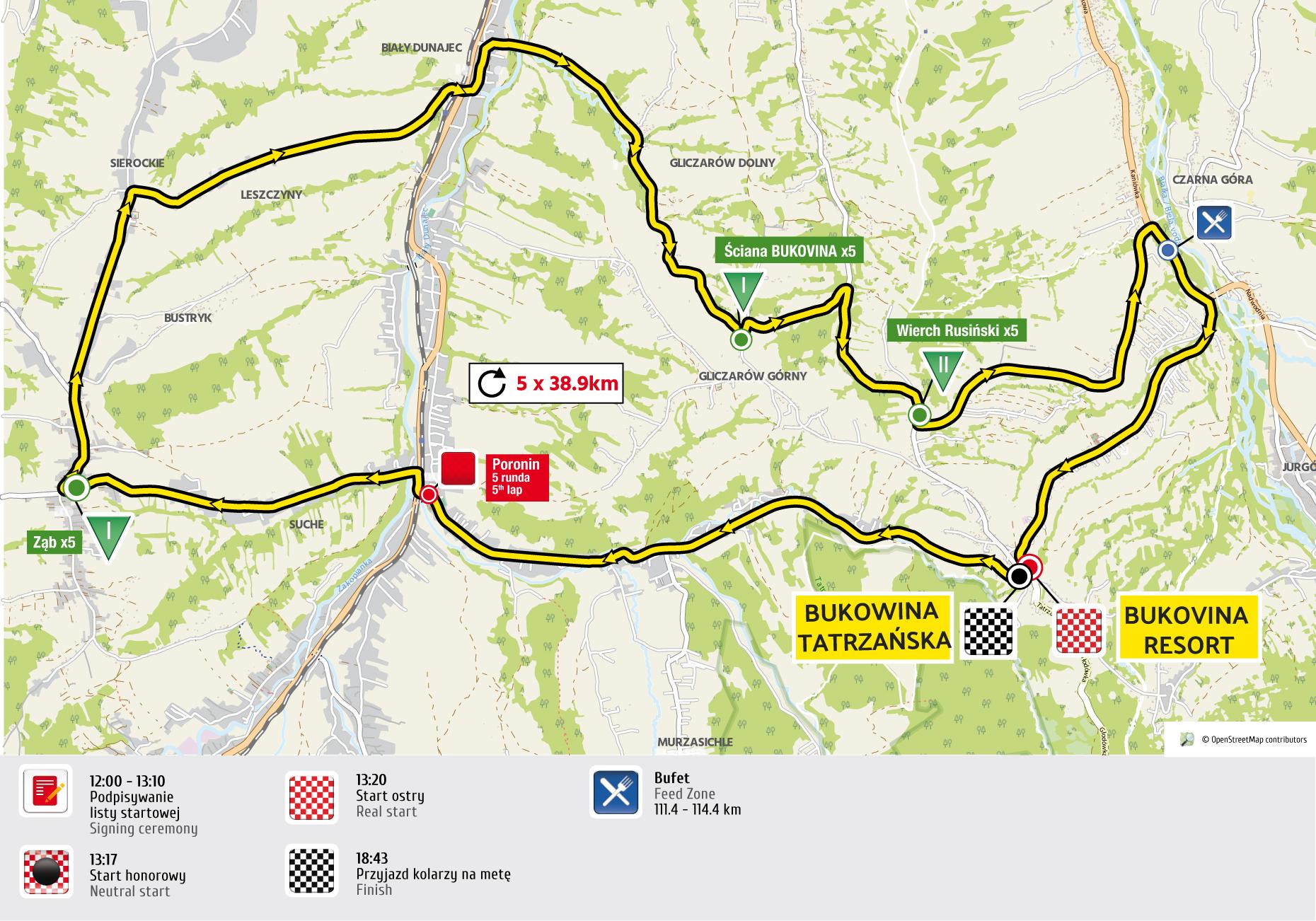 etap 6 mapa Tour de Pologne 2016 UCI World Tour