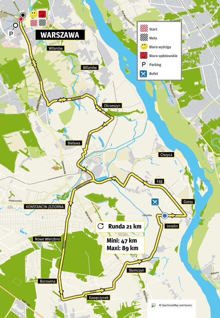 CLTR Warszawa mapa
