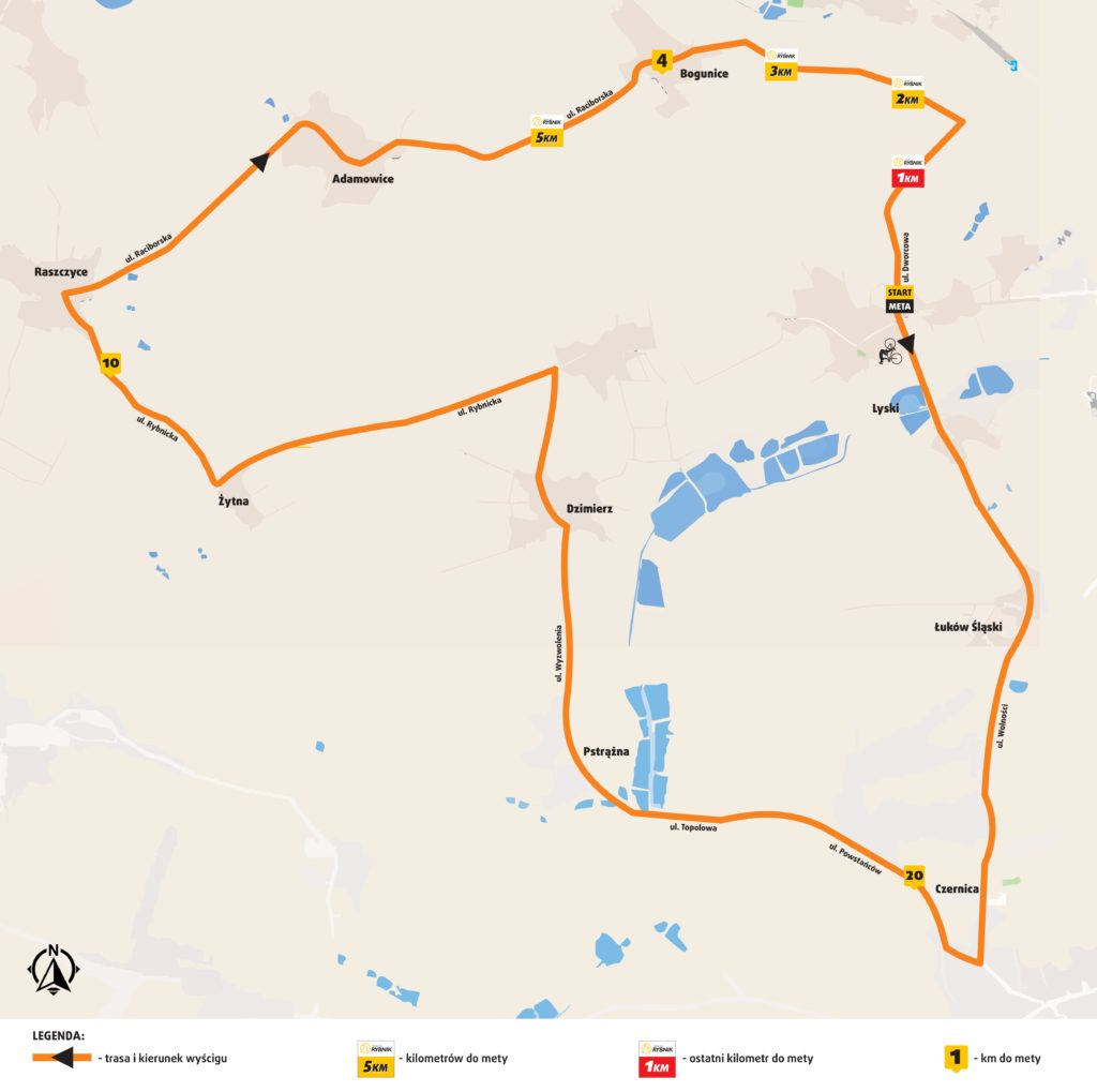 Mapa Tour de Rybnik 2016