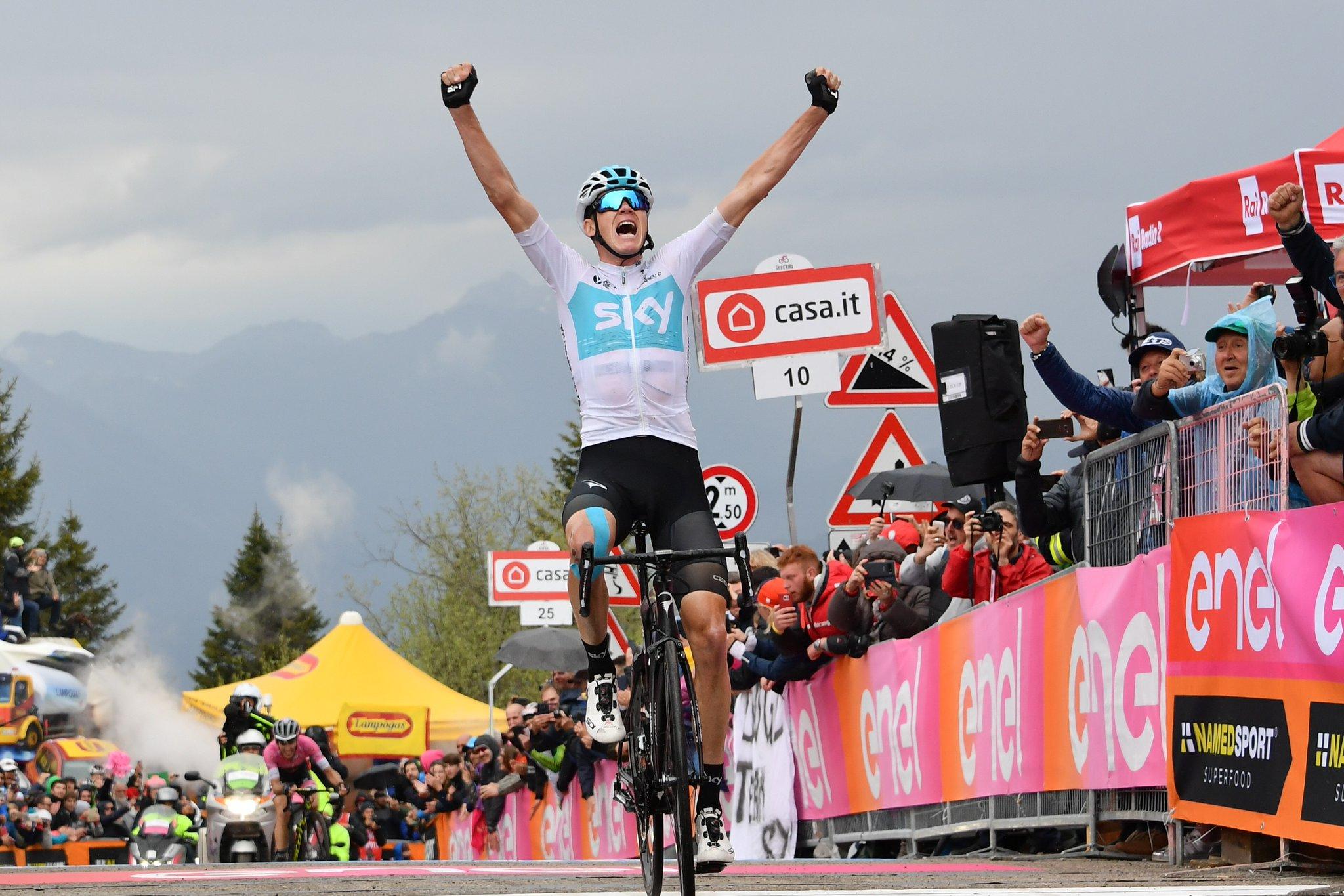 6ee86e1ec Giro d'Italia 2018: Froome pierwszy na Zoncolan, Yates liderem ...